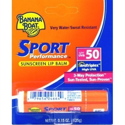 Banana Boat Sport SPF 50 Sunscreen Lip Balm (2 Pack)