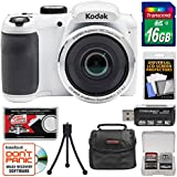 KODAK PIXPRO AZ252 Astro Zoom Digital Camera (White) with 16GB Card + Case + Tripod Kit