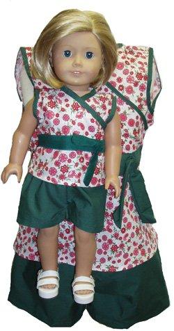Doll Clothes Superstore Abbinamenti Pantaloncini Verdi e Top Girl e Bambole Taglia 8