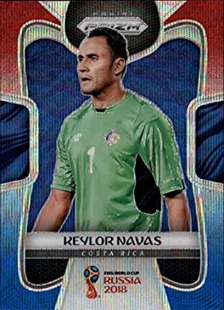 b29f821b801 Amazon.com: 2018 Panini Prizm Prizms Refractor Red and Blue Wave #46 Keylor  Navas Costa Rica World Cup 2018 Russia Futbol Soccer Car: Collectibles &  Fine ...