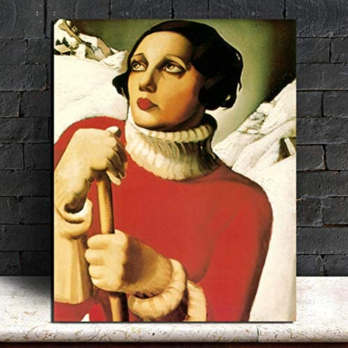 YuanMinglu Pala Nieve Pintura sobre Lienzo impresión Sala de Estar decoración del hogar Moderno Arte de la Pared Pintura al óleo Imagen del Cartel Pintura sin Marco 75x93cm