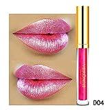 Malbaba Lipstick, 10 Color Womens Magic Glitter Flip Lipstick Flip Pull Matte Pearl Lip Gloss