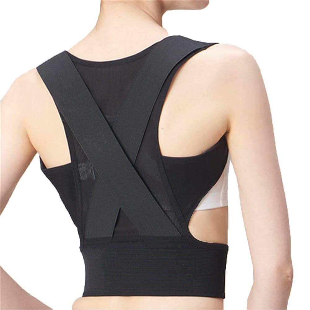 Corrector de postura Support Brace for Back Shoulder, Posture Corrector Shape The Perfect Body Neck Pain Relief Clavicle Physical Therapy (Size : S55-70cm)