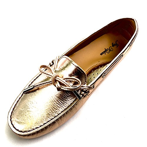 JAY All Made Mocasin Leather Loafer Driving Nubuk Lace Italy 400 KAPLAN with Shoes Leslie Gold in Womens Dollar rUtrq