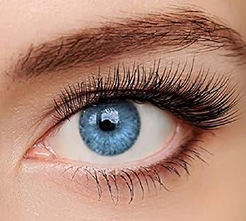 ELFENWALD farbige Kontaktlinsen, INTENSE BLAU/AZUR, natürlicher Look, maximaler Tragekomfort, ohne Stärke, 1 Paar weiche Farb