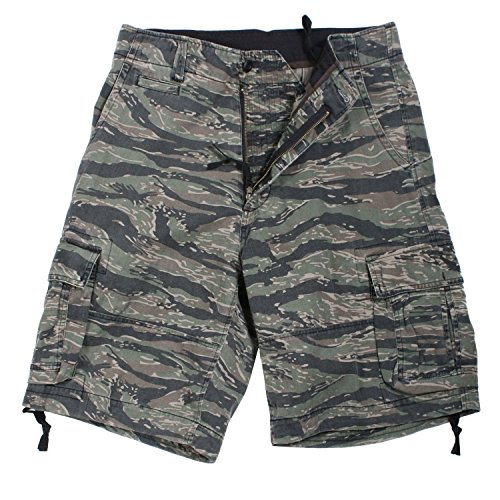 Rothco Vintage Infantry Utility Shorts, Tiger Stripe, ()