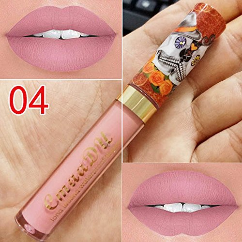PLENTOP CmaaDu Liquid Lipstick Moisturizer Metal Matt Lipstick Cosmetic Beauty Makeup
