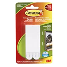Command Large Picture Hanging Strips, 16 lb Capacity, 4 Sets of Large Strips, (17206C)