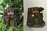 Cheap Fairy Garden – Tree Trunk House With Solar Lights