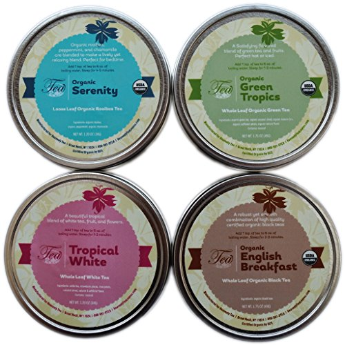 Heavenly Tea Leaves Tea Sampler Gift Set, 4 Bestselling - Green Gourmet Set Tea