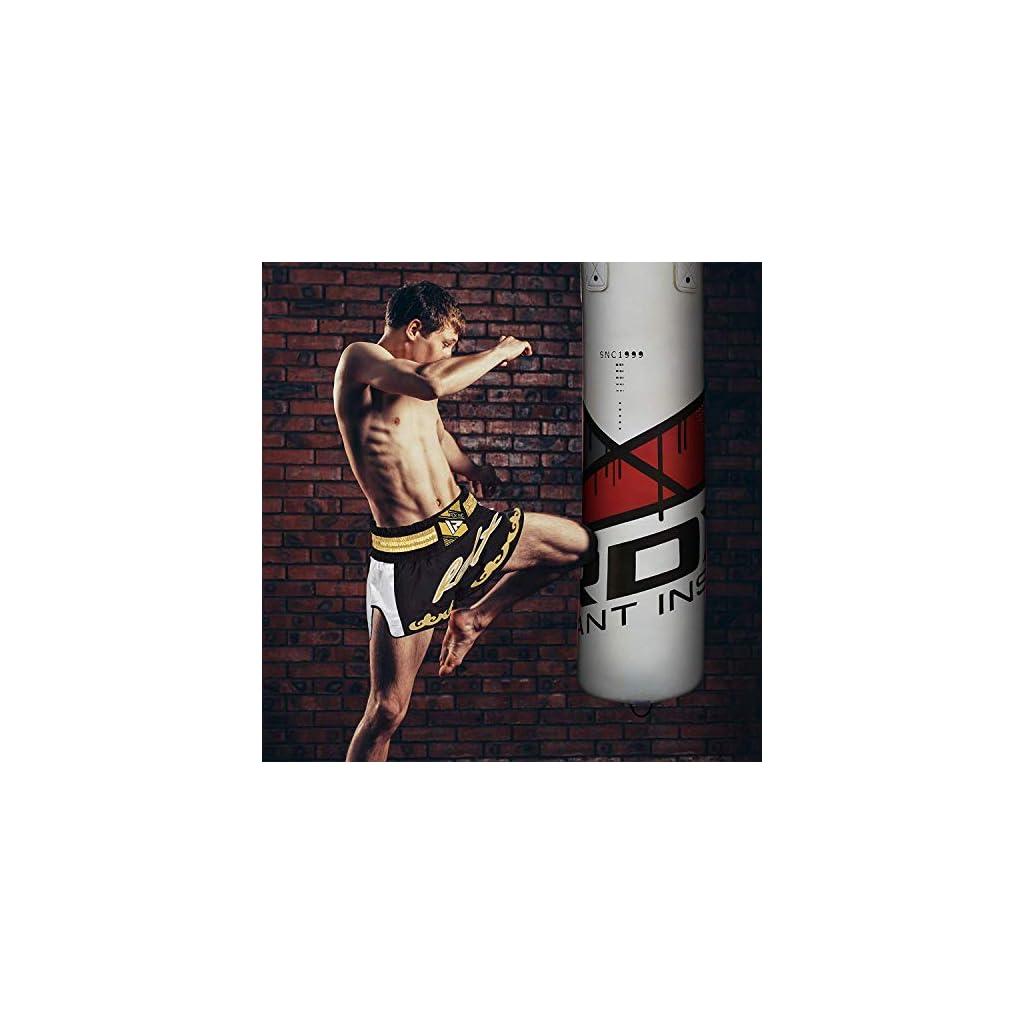RDX-Sacco-da-Boxe-Pieno-Arti-Marziali-MMA-Sacchi-Pugilato-Kick-Boxing-Muay-Thai-con-Guantoni-Allenamento-Catena-Gancio-Soffitto-13PC-Punching-Bag-Set-4FT-5FT