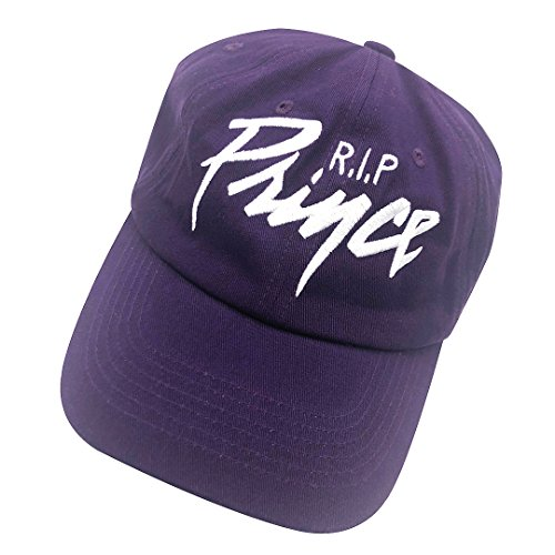 Prince Embroidered Hat - binbin lin The Artist Baseball Cap 3D RIP Prince Embroidered Dad Hat Adjustable Snapback Purple