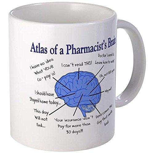 CafePress Atlas Of A Pharmacists Brain Mugs Unique Coffee Mug, Coffee Cup