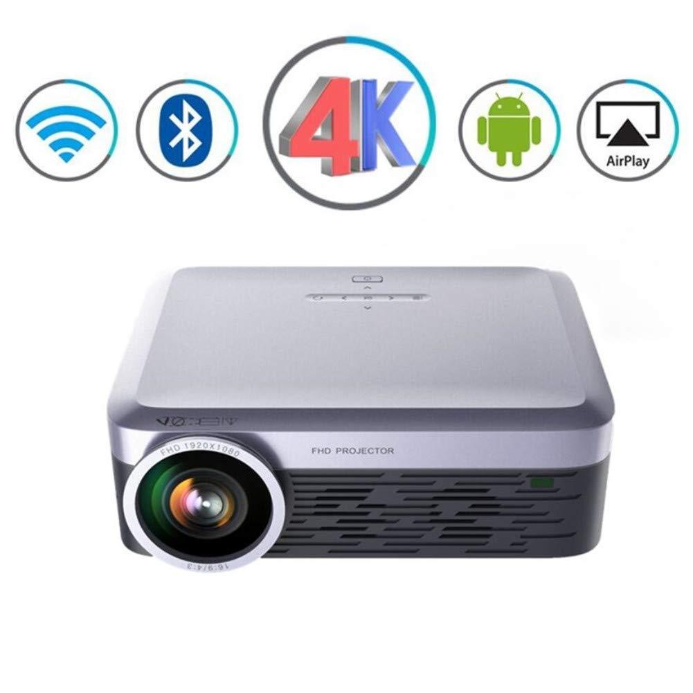 3000ルーメンポータブルプロジェクターFULL HD LED LCD Android Wifiビデオbluetooth Airplay Miracastワイヤレス4kテレビスマートホームシアタープロジェクター,Gray B07KDB16VD