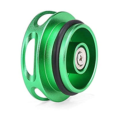 INCART Magnetic Ram Diesel Billet Aluminum Fuel Cap for 2013-2020 Dodge Ram Truck 1500 2500 3500 with 6.7 CUMMINS EcoDiesel, New Easy Grip Design (Green): Automotive