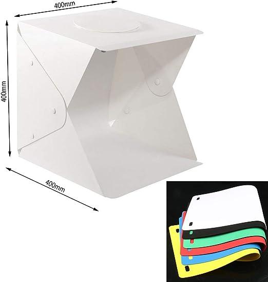 Caja de luz plegable con 2 luces LED para estudio fotográfico de ...