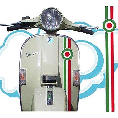 VESPA decal sticker stripe (white - red - green)
