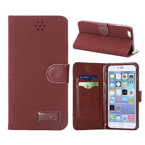 iPhone 6 Hülle,Apple iPhone 6 Hülle (5.5 Zoll) Lifetrut®[MS Rote] Flip Case mit lebenslanger Garantie + Kartenfächern & Standfunktion