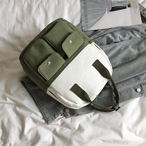 à épaule porté dos Vert étudiant Bandoulière poche Sac Sac à Toile Bovake Multi Portable qxYfF5