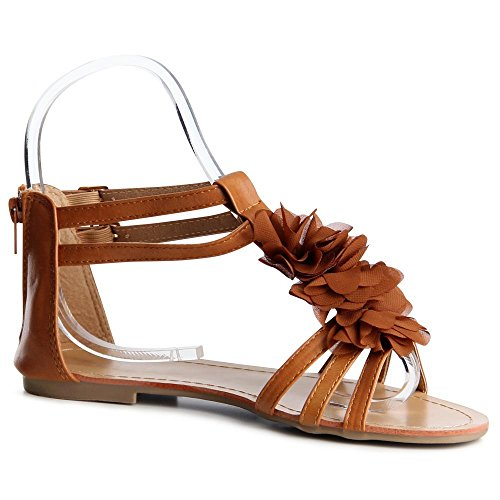 Femmes Camel Couleur topschuhe24 Sandales Sandalettes R6cwdv8vfq