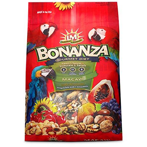 240 4-Piece Bonanza Macaw for Bird Cage, 6-Pound (Bonanza Parakeet Gourmet Diet)