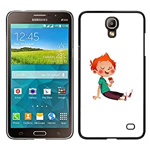 Be-Star Único Patrón Plástico Duro Fundas Cover Cubre Hard Case Cover Para Samsung Galaxy Mega 2 ( Boy Kid Red Hair Sugar Rush Sweets Candy )
