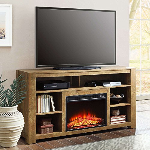 65 tv stand fireplace - 1