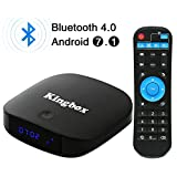 2018 Kingbox Android TV Box with Free Mini Keyboard, K1 Plus Android 7.1 Box Support 4K (60Hz) Full HDMI/H.265 / Bluetooth 4.0/2.4GHz WiFi Android Smart TV Box (2G RAM / 8G ROM)