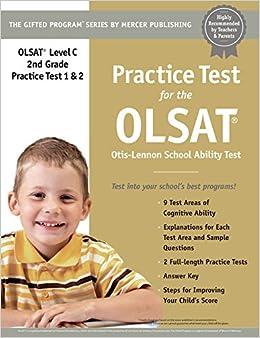 Practice Test For The Olsat Grade 2 Level C Otis Lennon School