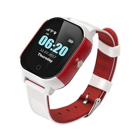 Reloj Inteligente Inteligente Pulsera Anti-Perdida Impermeable Reloj para Niños GPS Brújula WiFi lbs Posicionamiento Exacto Llamada SOS: Amazon.es: Relojes