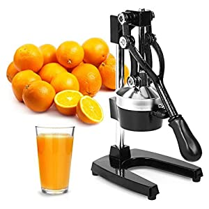 Zulay Professional Citrus Juicer – Manual Citrus Press and Orange Squeezer – Metal Lemon Squeezer – Premium Quality Heavy Duty Manual Orange Juicer and Lime Squeezer Press Stand, Black 51P 9mcCaLL