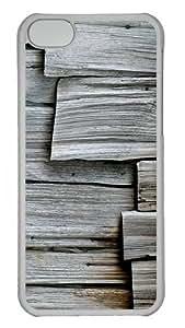 iPhone 5C Cases, iPhone 5C Case - Gray Wood Custom PC Case Cover For iPhone 5C - Tranparent