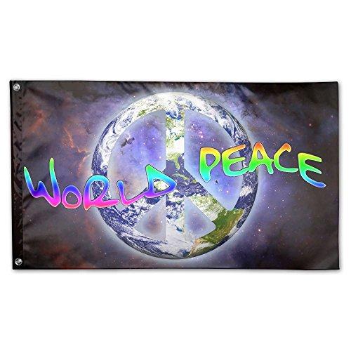 Pickle Rick World Peace Brass Grommets,Quadruple Stitched Fl