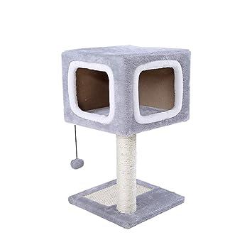 JIAN Pequeño Gato Escalada Marco Gato Estante Villa Gato Juguete Gato árbol Casa Sisal Cuatro Estaciones Gato Escalada Columna Gato Torre,Grey: Amazon.es: ...
