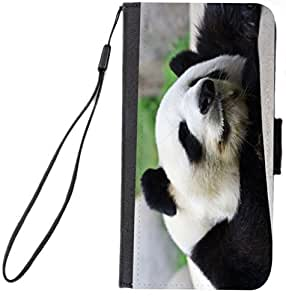 Rikki Knight™ Panda Galaxy S4 PU Leather Wallet Type Flip Case with Magnetic Flap and Wristlet for Samsung Galaxy S4