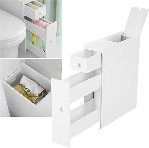 Nannday Gabinete del Piso del baño, Muebles de baño Estrechos ...