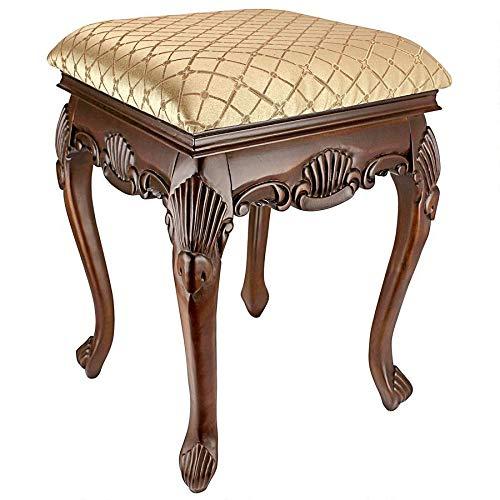 Design Toscano Madame Bouvier Boudoir Stool Finish: Walnut