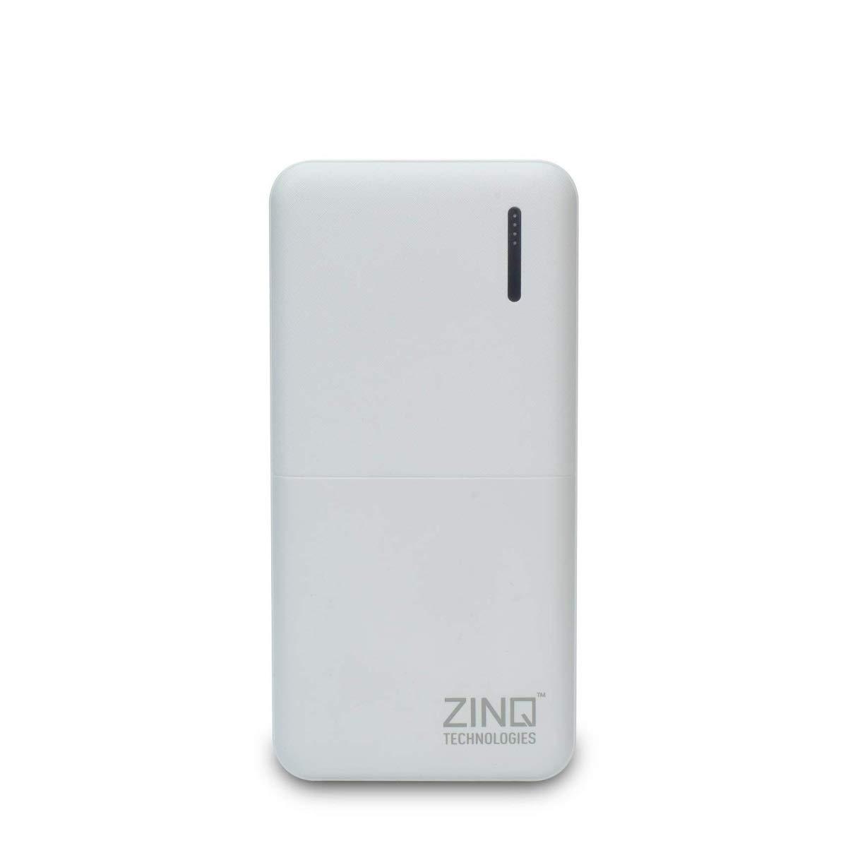 Zinq Technologies Z20KPB 20000mAh Lithium Polymer Power Bank with Dual USB Output (White)