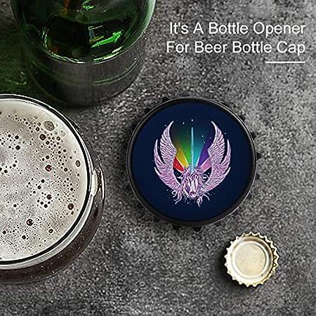 Abrebotellas de cuerno de arco iris, imán trasero para nevera, forma creativa de tapa de botella, fácil de abrir el esfuerzo de botella.