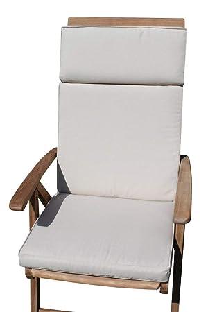 Cojín para muebles de jardín- Cojín con respaldo para silla ...