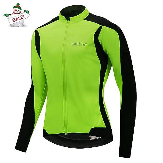 Lo.gas Men s Lightweight Road Cycling Jacket Soft Thermal Fleece Bike Coat  for Winter Green 417397da1