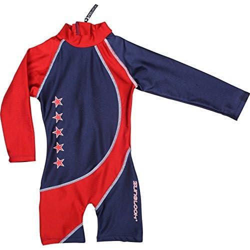 Zunblock Stars - Traje de natación con mangas largas para niños ... cddbf2ff165