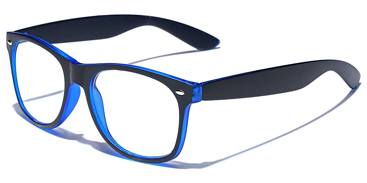 76ca8fb673ba Amazon.com: Horn Rimmed Retro Men's & Women's Reading Glasses Various  Strengths and Colors: Clothing