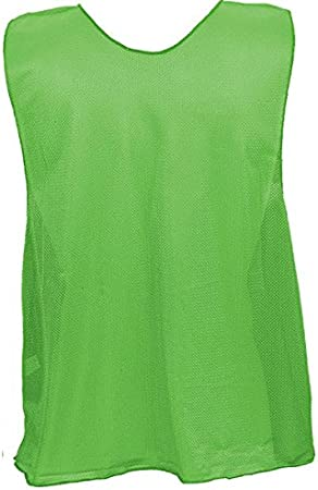 Champion Sports Solid and Numbered Mesh Practice Vests in Multiple Colors for Adults and Youth