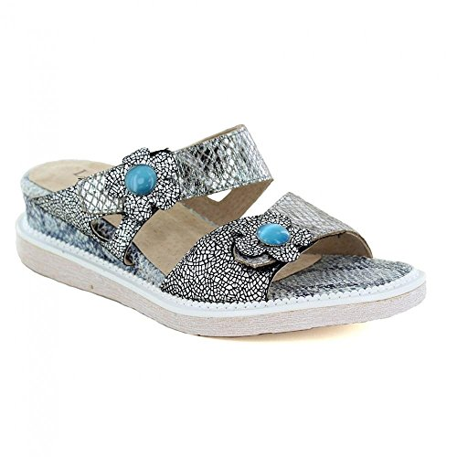 Laura Vita Dipsy 07 SL265B-7 Womens Leather Sandals - Grey Grey 7xiIptan