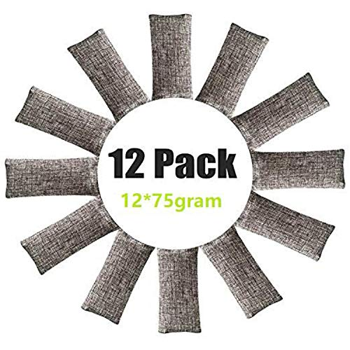 12 Pack Natural Air Purifying Bags,Odor Remover, Shoe Deodorizer and Odor Eliminator 100% Natural Non-Toxic