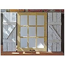 "Rustic Window Shutters (2) 11"" wide X 33"" tall for 23.5"" X 33"" Window Pane Mirror (window mirror sold separately)"