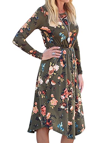Girls Long Sleeve Floral Dress - 7