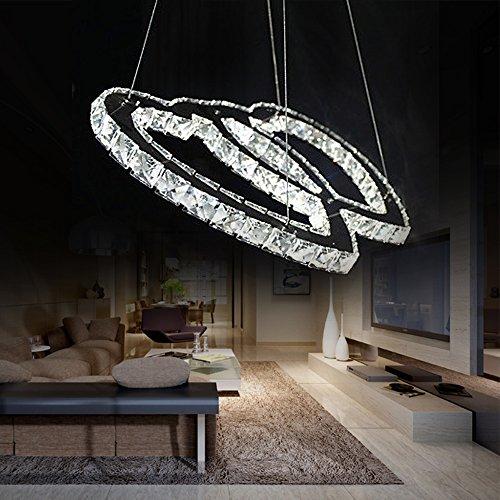 1w Contemporaneo Cristallo / LED Cromo Metallo Lampadari Camera da ...