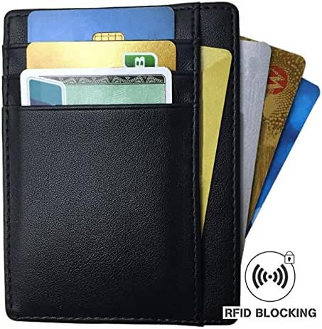 Mens Slim RFID Blocking Front Pocket Card Wallet